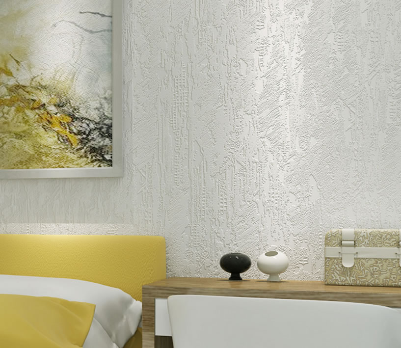 墙纸批发_现代简约环保素色纯色3D硅藻泥房间卧室壁纸无纺布墙纸客厅背景 ...